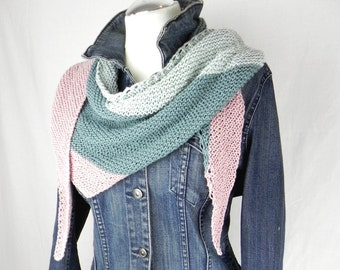 Shawl knitted scarf cloth scarf cotton Merino pastel colors