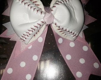 Girls Baseball Bow