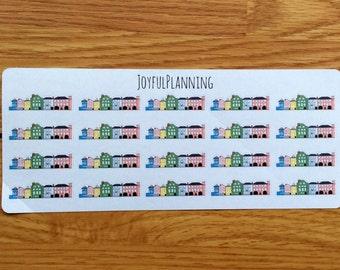 Rainbow Row Planner Stickers