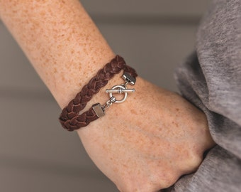 Essential Oil Diffuser Bracelet  · Double Wrap Braided Leather Bracelet · Aromatherapy