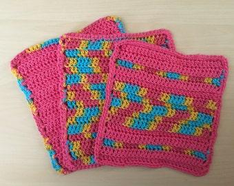 Pinkalicious Dishcloths - Set of 3