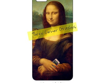 Mona Lisa iPhone 5 printable fine art case design; DIY print at home iPhone accessories for 5, 5S, or SE