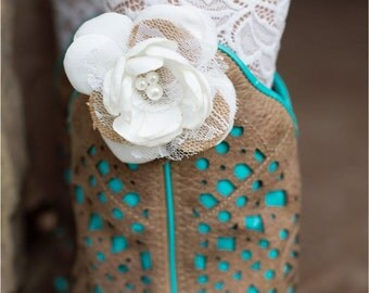 Burlap and Lace Rose