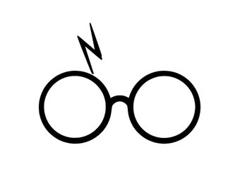 Harry Potter Decal | Harry Potter | Harry Potter Glasses with Scar | SCI FI  | Lightning | Die-Cut