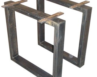 Industrial Steel Box section table legs