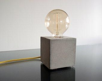 Concrete Lamp, Concrete desk lamp, Edison lamp, Modern lamp, Industrial retro lamp, Table lamp, Desk lamp
