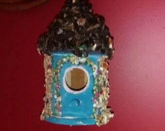 The English Garden -  Seeded-Edible Birdhouse/Feeder