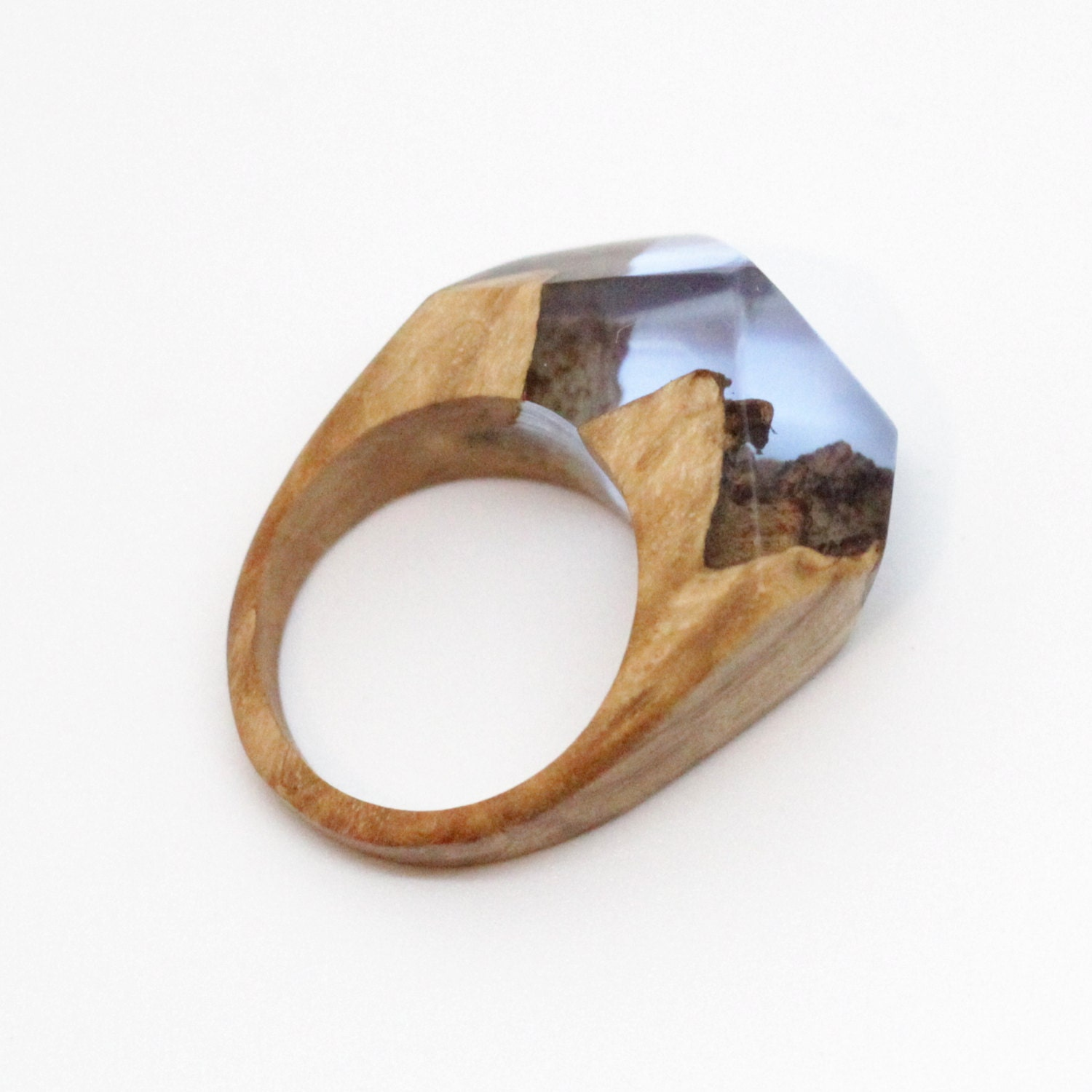 wood resin ring wood and resin ring statement by artfulresin. Black Bedroom Furniture Sets. Home Design Ideas