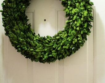 20 inch Spring Boxwood Wreath , Preserved Wreath,  Mirror Wreath ,Round Boxwood , Spring Wreath ,Summer Wreath