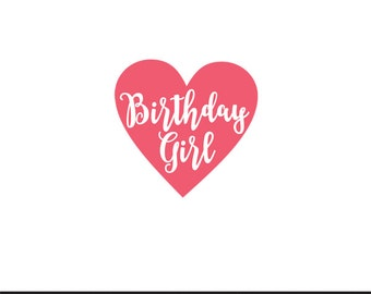 birthday girl svg dxf file instant download silhouette cameo cricut clip art commercial use