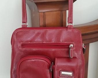 Rosetti Red Leather Handbag/Shoulder bag
