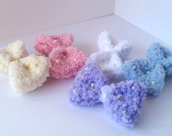Fluffy Bow 2-way Clip and Brooch