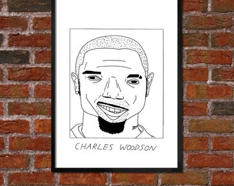 Badly Drawn Charles Woodson - NFL - Oakland Raiders Poster