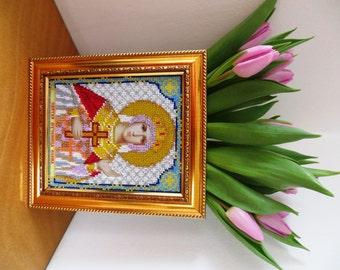 Beads Embroided Icon Saint Elena