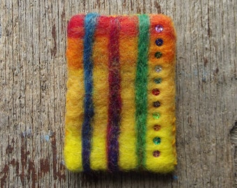 Needle-Felted Wearable Art Brooch