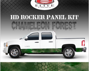 "Chameleon Forest Camo Rocker Panel Graphic Decal Wrap Truck SUV - 12"" x 24FT"