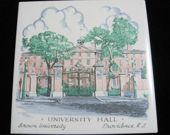 Brown University Tile, University Hall, Providence, RI