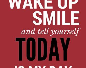 Wake up & smile | Print | Decor