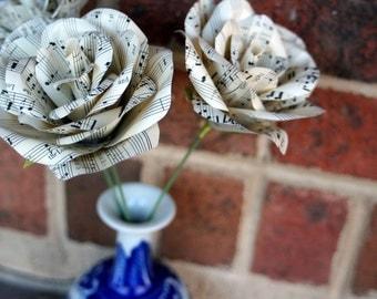 Vintage Sheet Music Roses
