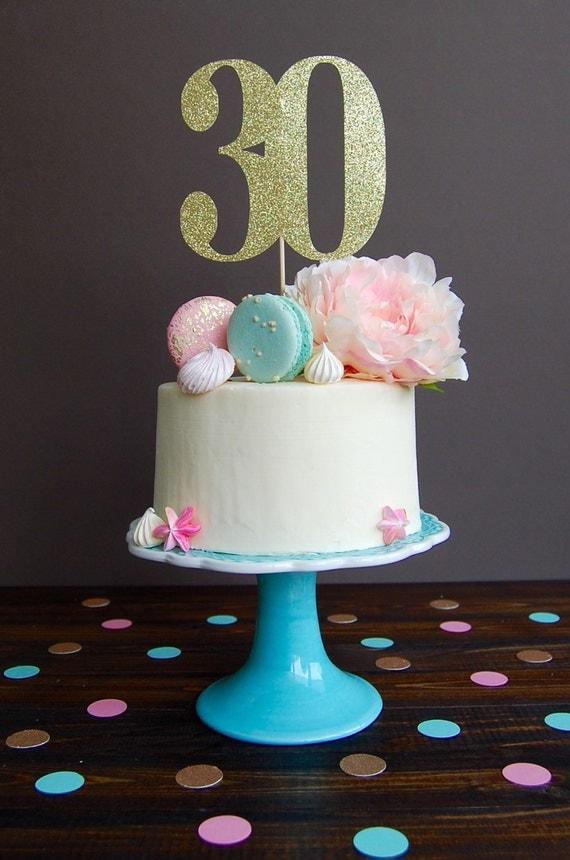 Cake topper thirty cake topper 30th birthday cake topper for 30th birthday cake decoration