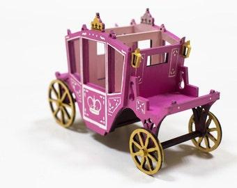 Pen holder Fairy Princess Royal coach - storage for crafts. Desktop organizer, collectible miniature model