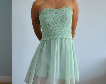 Size sm/md new mint strapless/ tube top dress