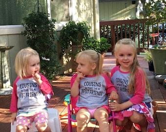 Cousins Baseball Tee, Cute Cousins Shirts, Matching Cousins Tees, Cousins Shirts, Cousins make the best friends shirt, Cousin Love