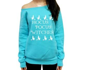 Funny Halloween Sweatshirt, Halloween Costume Party Sweater, Hocus Pocus Witches, Hocus Pocus Sweatshirt, Witches Sweatshirt, Off Shoulder