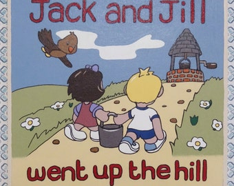 Jack & Jill Wooden Painting