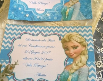 Frozen Customizable Birthday Invitation