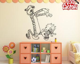 Calvin U0026 Hobbes Zombie Wall Decal Kids Boy Girl Nursery Room Sticker  Design, Wall Mural Part 77