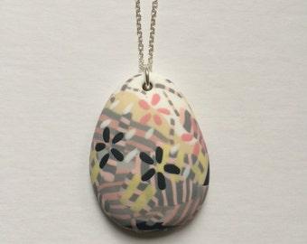 Floral mist zebra pendant (large)