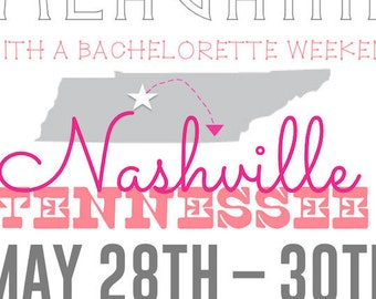 Nashville-Themed Bachelorette Invitation