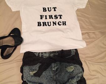 But first brunch Vneck tee