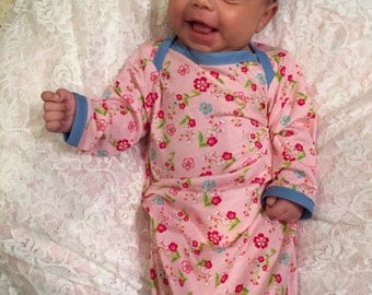 Baby Gown, Layette, Shower Gift, Gown, Infant Girl Gown, Going Home Dress, Going Home Gown, Infant Gown, Shower Gift, Infant Clothes, Dress