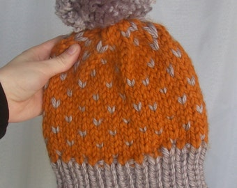 Butterscotch PomPom Hat