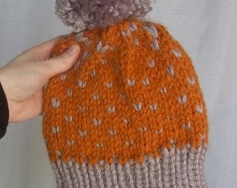 Butterscotch PomPom Hat