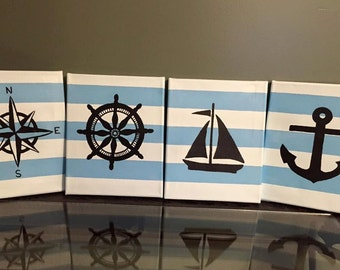 Nautical canvas paintings 4-8x10