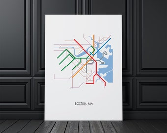 Superieur Boston Wall Art, Boston Map, Boston, MA, Wall Art, Map Art