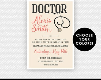 Doctor Invitation Medical School Doctor Graduation