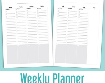 Weekly Planner (2 pages)
