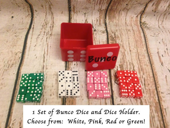 12 Bunco Dice In Square Dice Container Acts By