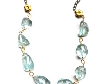 Blue Topaz Necklace--Blue Topaz Jewelry