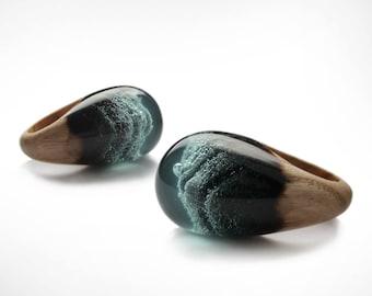 Resin Wood Ring, Epoxy Resin, Wood Resin Jewelry, Wooden Ring, Wood and Resin, Wood Jewelry, Handmade Jewelry