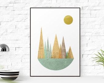 Minimalist wall art, Triangle print, Nordic style, geometric print, mdoern print, hom design, abstract wall art, Triangles art, Wall print