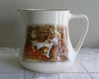 Lancaster and Sandland English ware ceramic pitcher, Sairey Gamp Entertains Betsy Prig