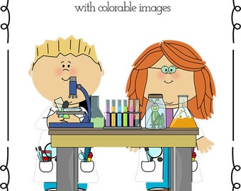 Science Mini Book - colorable pages