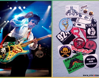 BJ Guitar Stickers Version 2015 - 2016 Blue Billie Joe vinyl decal Full Set 17