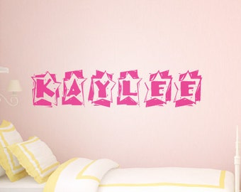 Girl Nursery Wall Art – Personalized Name Wall Decal - Girls Name Wall Stickers - Childrens Wall Stickers