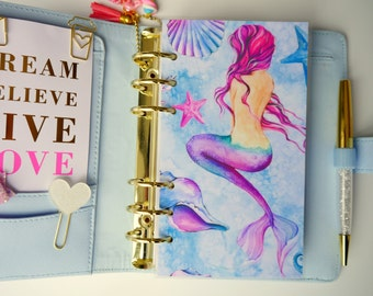 Watercolour Mermaid Personal, A5 & Pocket Size Planner Dashboards